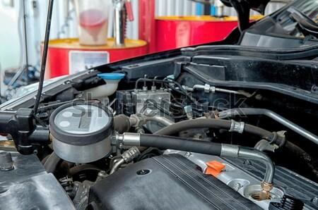 Gépjármű arc előtér fém energia modern Stock fotó © artfotoss