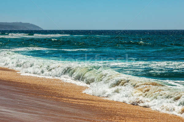Tengerpart Portugália idilli vad nyáridő óceán Stock fotó © artfotoss