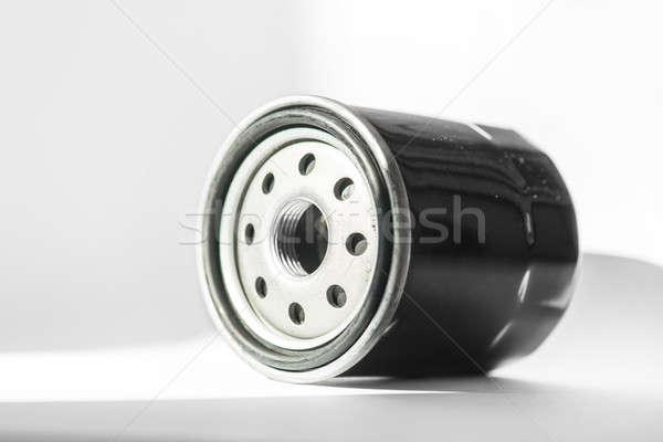 új olaj szűrő autó izolált fehér Stock fotó © artfotoss