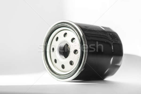 New oil filter car isolated on white background Stock photo © artfotoss