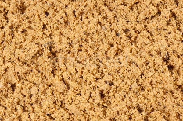 Areia superfície pequeno rachaduras Foto stock © artfotoss
