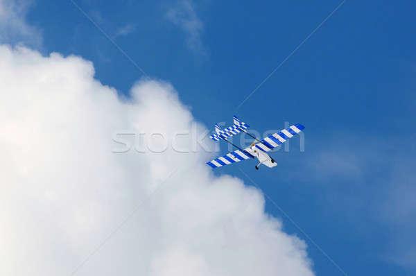 Avião caseiro rádio controlar aeronave elétrico Foto stock © artfotoss
