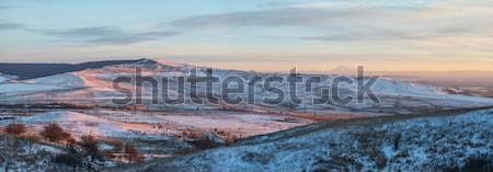 View from Mount Strizhament. Stavropol region, North Caucasus. R Stock photo © artfotoss