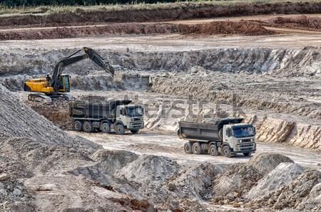 Foto stock: Máquina · arcilla · construcción · urbanas · camión · cuadro