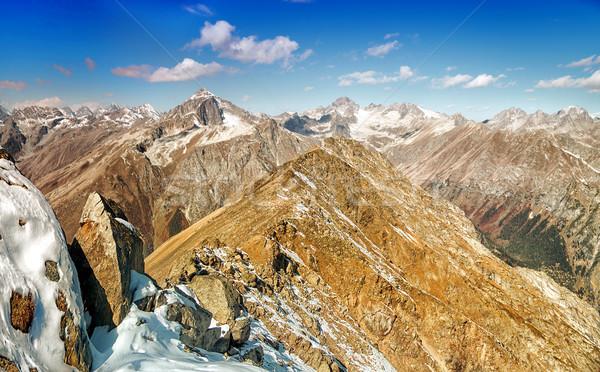 Dombai. Scenery of rockies in Caucasus region in Russia Stock photo © artfotoss