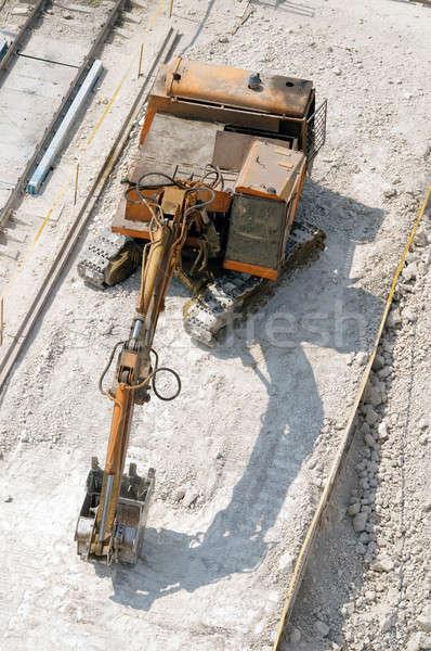 Ipari gép nagy kő agyag építkezés Stock fotó © artfotoss