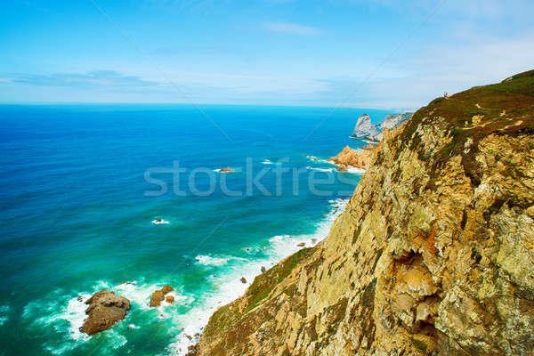 Portugal costa punto Europa pintoresco rocas Foto stock © artfotoss