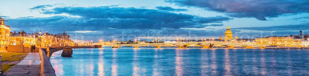 The Blagoveshchensky (Annunciation) Bridge during the White Nigh Stock photo © artfotoss