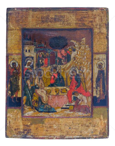 Antigo ícones ortodoxo igreja adorar Foto stock © artfotoss