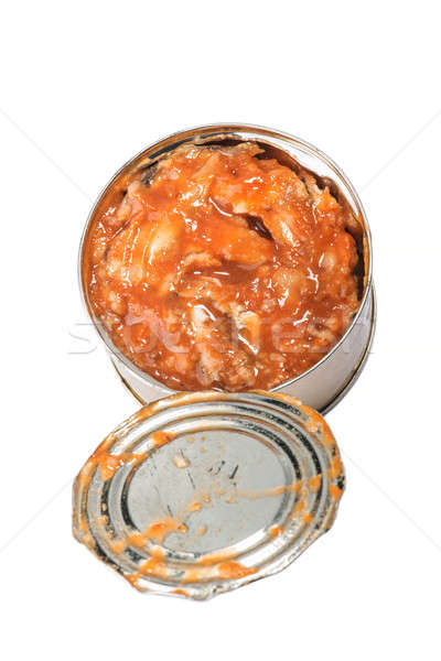 Canned fish in tomato sauce Stock photo © artfotoss