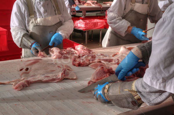 pork processing meat food industry Stock photo © artfotoss