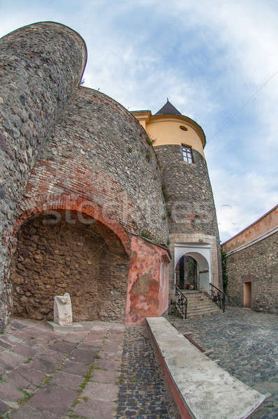 城 ウクライナ 表示 古い 橋 石 ストックフォト © artfotoss