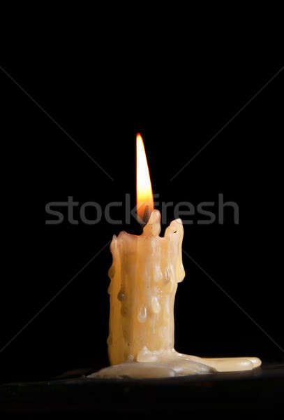 Stock photo: Burning candle