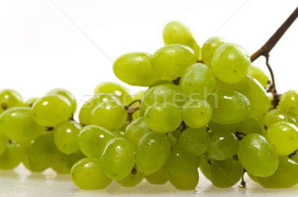 Szőlő fehér étel gyümölcs piros szín Stock fotó © artfotoss