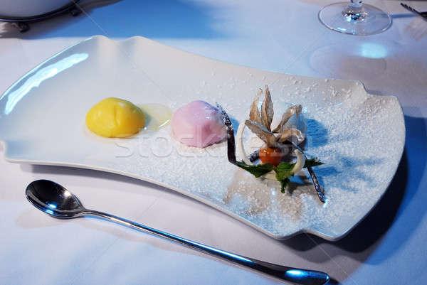 delicious ice cream Stock photo © artfotoss