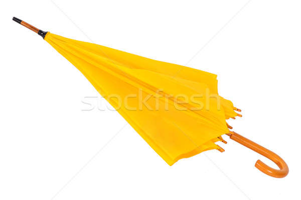 Amarelo guarda-chuva branco isolado água Foto stock © artfotoss
