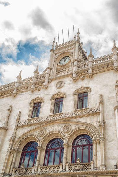 ロマンチックな リスボン 通り 典型的な 古い 建物 ストックフォト © artfotoss