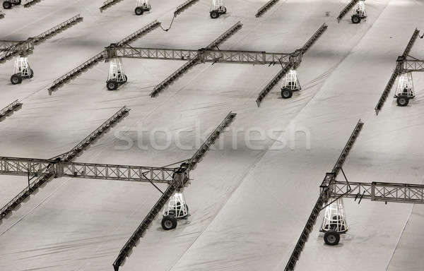 Gramado cuidar futebol inverno Foto stock © artfotoss