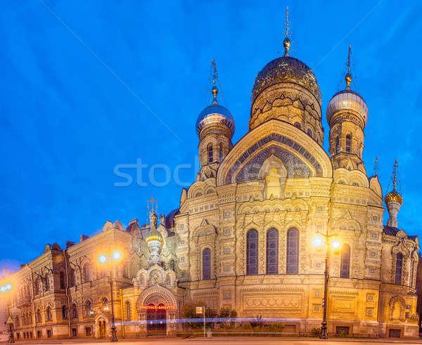 Tempel onderstelling kerk eiland hemel Europa Stockfoto © artfotoss