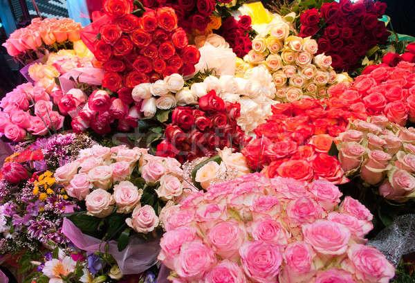 ピンク バラ フローラル パターン 休日 ストックフォト © artfotoss