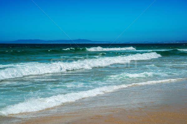 Spiaggia Portogallo idilliaco selvatico ora legale Ocean Foto d'archivio © artfotoss