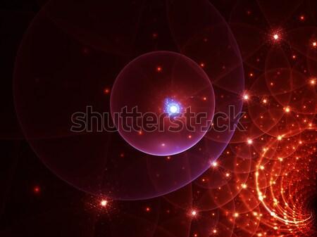Spazio passaggio cancello universo colorato sfere Foto d'archivio © Artida