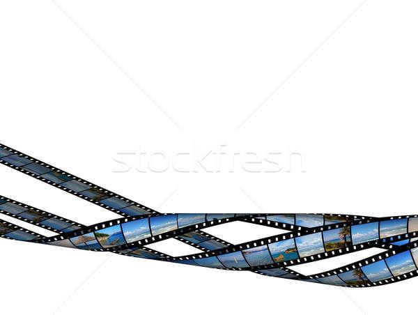 Film şerit güzel plaj yüksek Stok fotoğraf © Artida