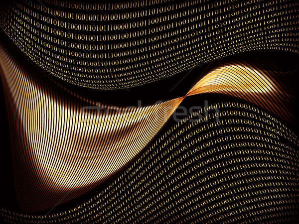 通信 インターネット バイナリコード データ コンピュータ ストックフォト © Artida