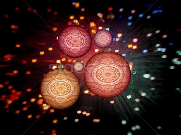Foto stock: Natal · 3D · colorido · fractal
