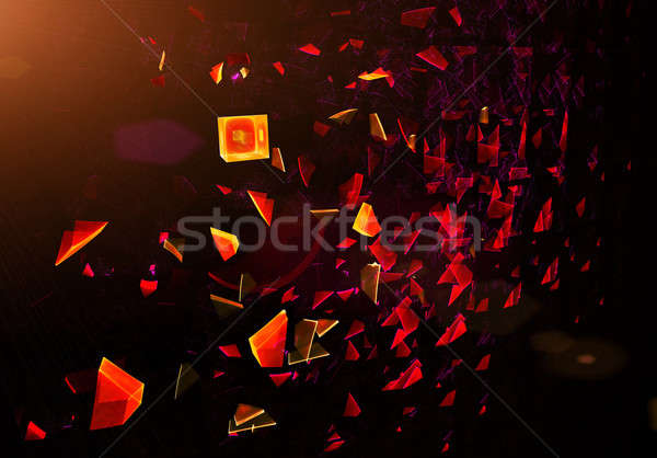 blast scattered particles Stock photo © Artida