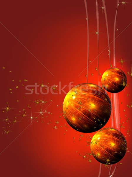 Czerwony christmas ozdoby streszczenie wakacje Zdjęcia stock © Artida