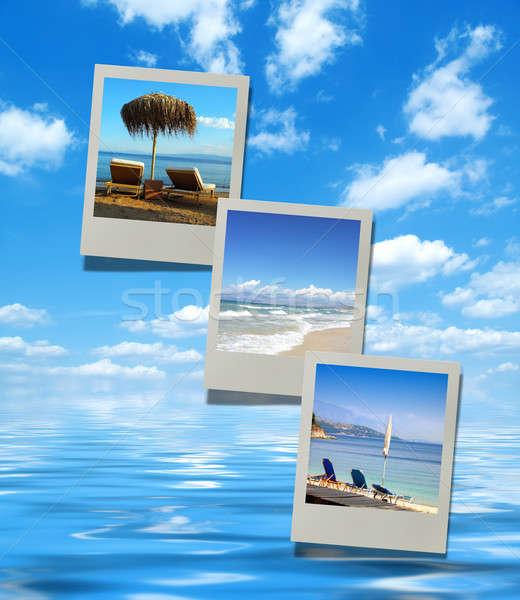 夏 ビーチ コラージュ 休暇 太陽 ストックフォト © Artida