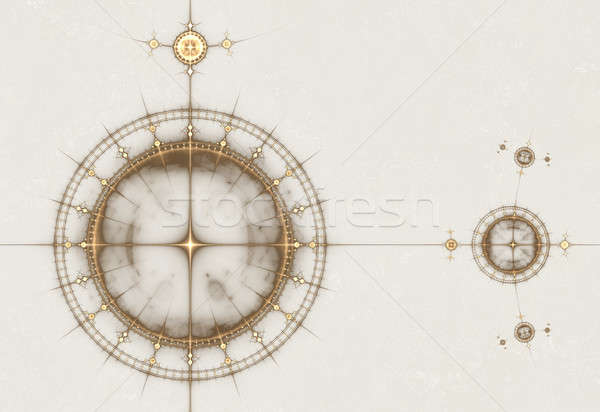 Old Parchment with Compass, Ancient Nautical Chart Stock photo © Artida