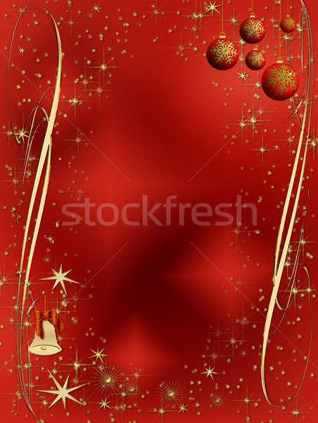красный элегантный Рождества украшение Сток-фото © Artida