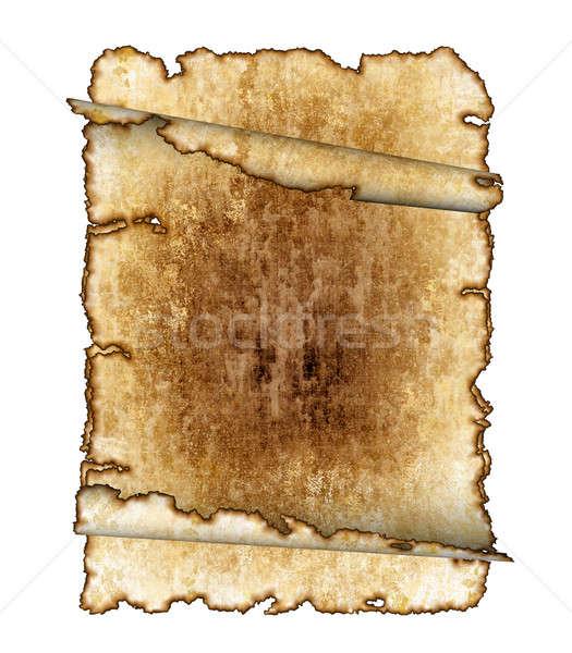Old rough antique parchment paper scrolls, texture ...