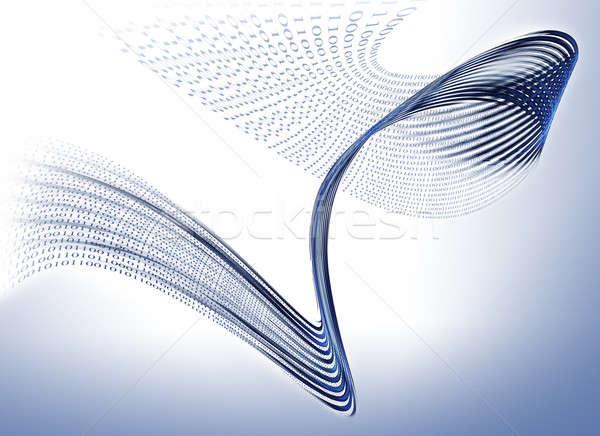 двоичный код данные связи интернет бизнеса Сток-фото © Artida