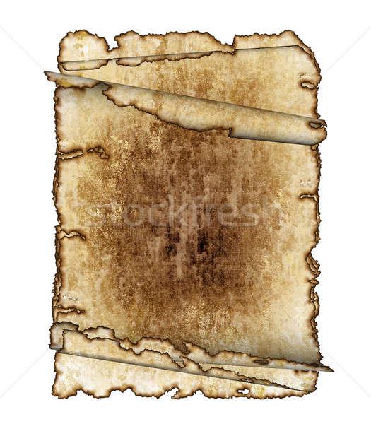 üç eski kaba antika parşömen kâğıt Stok fotoğraf © Artida