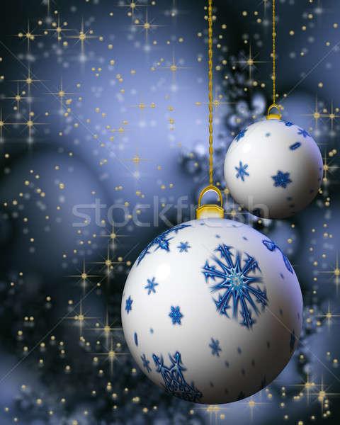 Snowflake christmas płatki śniegu szczęśliwy Zdjęcia stock © Artida