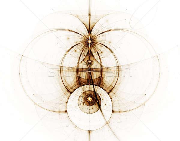 Antyczne wykres streszczenie ilustracja starożytnych Zdjęcia stock © Artida