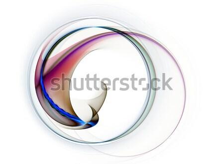 Renkli hareket dinamik soyut beyaz Stok fotoğraf © Artida