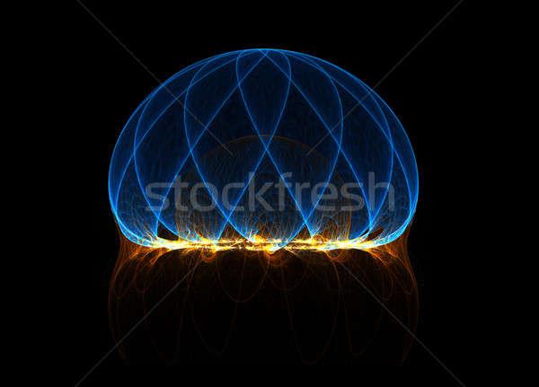 Energii dziedzinie fractal linie tekstury streszczenie Zdjęcia stock © Artida