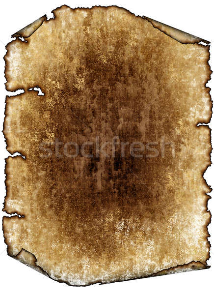 Old rough antique parchment paper scroll, texture background iso Stock photo © Artida
