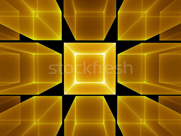 golden cubic perspective Stock photo © Artida