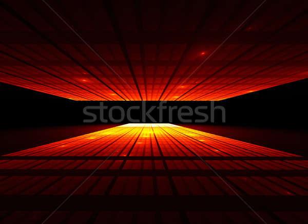 закаты город перспективы мнение аннотация иллюстрация Сток-фото © Artida