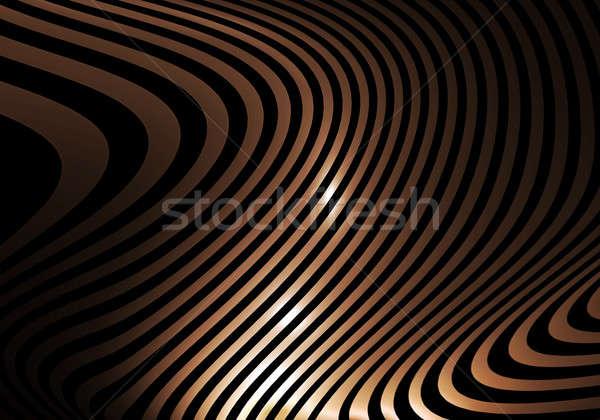 Altın soyut çizgili dalgalar dalgalı rays Stok fotoğraf © Artida