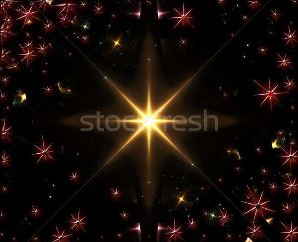 Kolorowy wakacje gwiazdki świetle tle Zdjęcia stock © Artida