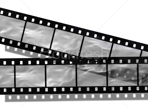 Foto stock: Film · strip · branco · abstrato · preto · retro · fita