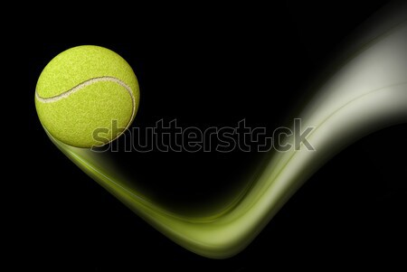 Tennis Ball Taking a Bounce Stock photo © Artida
