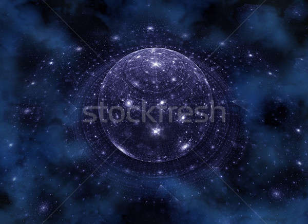 Blue planet, somewhere in the universe Stock photo © Artida