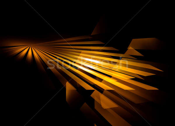 golden rays,  perspective Stock photo © Artida